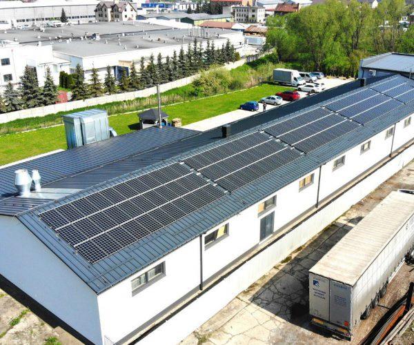 instalacja paneli monokrystalicznych w Bochni