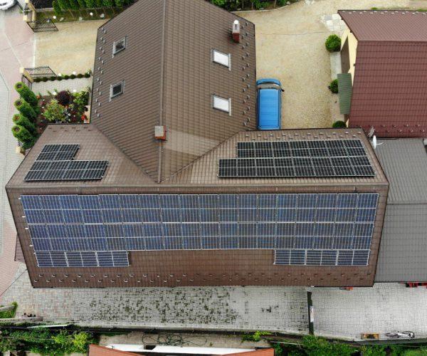 panele fotowoltaiczne w Czarnochowicach na dachu