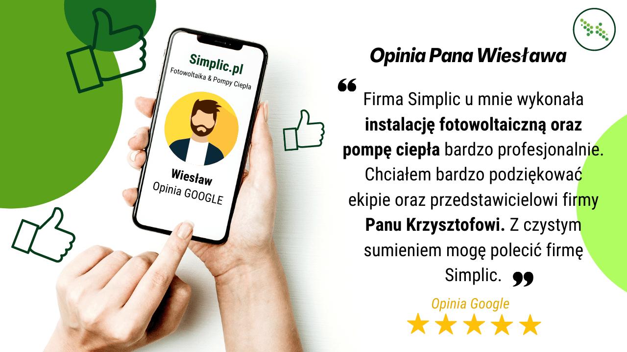 pozytywna opinia Wiesława na temat firmy Simplic